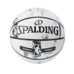 Spalding NBA Marble Series Black White Outdoor Basketball