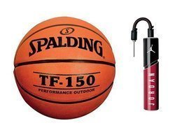 Spalding TF-150 Fiba Basketball + Air Jordan Essential Ball Pump
