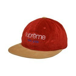 Supreme Classic Logo New York Corduroy 6-Panel Cap