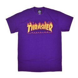 Thrasher Flame Logo Purple - 144542