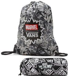 VANS Benched Bag Marvel Woman Black Drawstring - VN0A3RCLBLK