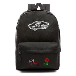 VANS Realm Backpack Custom Girl Gang Rose | VN0A3UI6BLK
