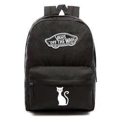 VANS Realm Backpack | VN0A3UI6BLK - Custom Cat