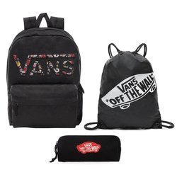 VANS Realm Backpack - VN0A3UI8YGL 004 + Pencil Pouch + Benched Bag