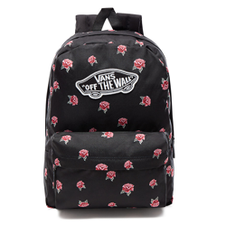 VANS Realm Black & Rose Backpack - BLACK  VN0A3UI6RDU