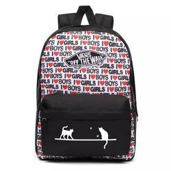 VANS Realm I Heart Backpack Custom Cats - VN0A3UI6VDA