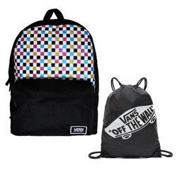 Vans Glitter Check Realm Backpack - VN0A48HGUX9 + Bag