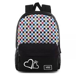 Vans Glitter Check Realm Backpack - VN0A48HGUX9 - Custom Love