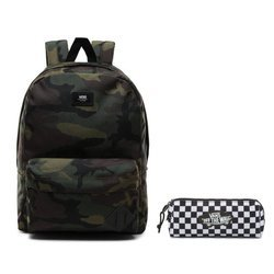 Vans Old Skool III Classic Camo Backpack + Vans OTW Pencil Pouch