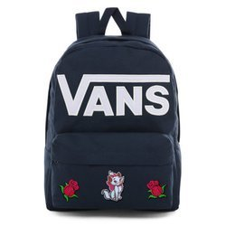 Vans Old Skool III Dress Blues-White Backpack - VN0A3I6R5S2 - Custom Marie Kitten and Roses