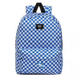 Vans Old Skool III Victoria Blue Check Backpack Custom Dolphin