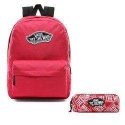Vans Realm Backpack - VN0A3UI6SQ2 + Pancil Pouch