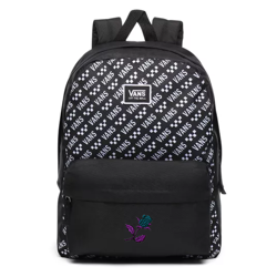 Vans Realm Black-Brand Striper Backpack - VN0A3UI7W07 - Custom Rose