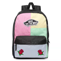 Vans Realm Checkwork Backpack Custom Roses - VN0A3UI6VDK