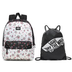 Vans Realm Classic Beauty Floral Patchwork Backpack + Benched Bag