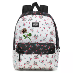 Vans Realm Classic Beauty Floral Patchwork Backpack Custom Rose