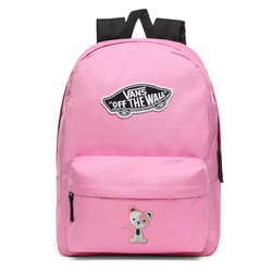 Vans Realm Fuchsia Pink Backpack Custom Cat - VN0A3UI6UNU