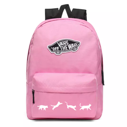 Vans Realm Fuchsia Pink Backpack - VN0A3UI6UNU - Custom Cats