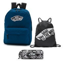 Vans Realm Gibraltar Sea Backpack - VN0A3UI6TTA + Bag + Pancil Pouch
