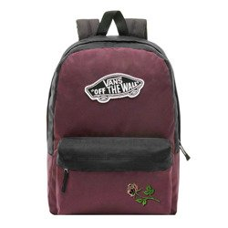 Vans Realm Prune Purple Black Backpack - VN0A3UI6TQR - Custom Powder Rose