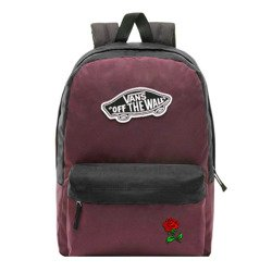 Vans Realm Prune Purple Black Backpack - VN0A3UI6TQR - Custom Red Rose