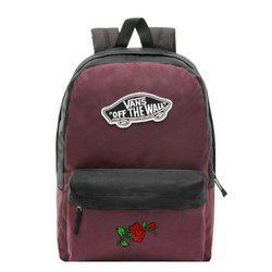Vans Realm Prune Purple Black Backpack - VN0A3UI6TQR - Custom Roses
