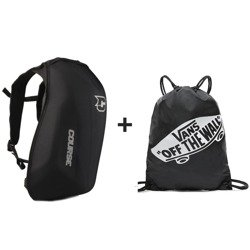 Course Slipstream motorcycle Backpack, Water-resistant + VANS Benched Gymsack