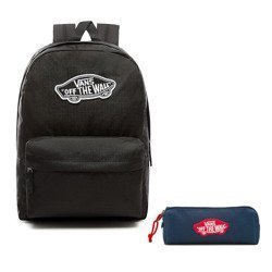 VANS Realm Backpack | VN0A3UI6BLK + Pancil Pouch