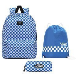 Vans Old Skool III Victoria Blue Check Backpack + Bag + Pencil Pouch