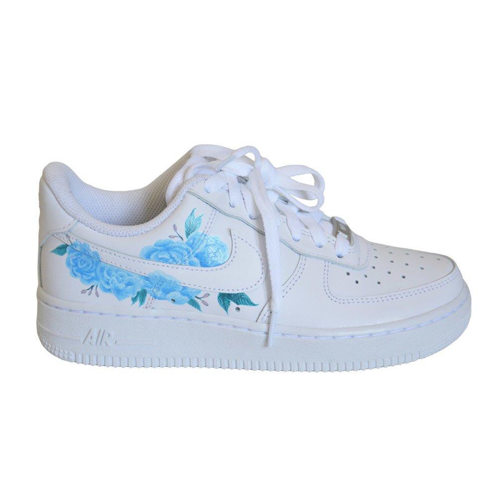 Nike Air Force 1 Low All White Custom