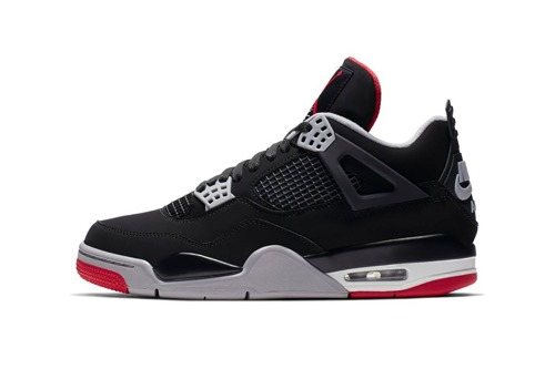 Air Jordan 4 Retro Bred Shoes - 308497-060 for Custom