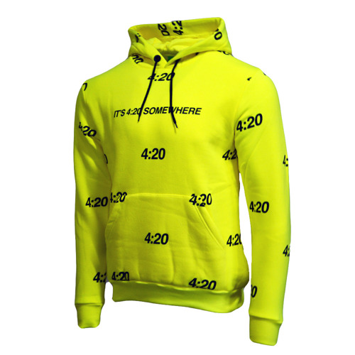 Kush 4:20 Somewhere Hoodie Electric Lime