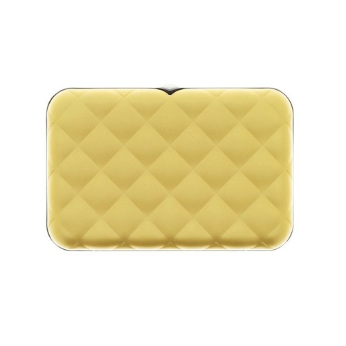 Ogon Designs Wallet Quilted Button Gold RFID protect
