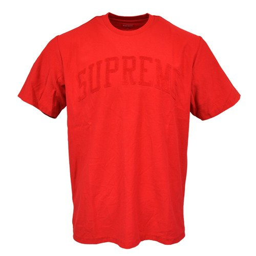 Supreme Chenille Arc Logo S/S Top T-shirt Red - FW19KN44