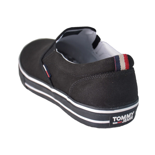 TOMMY JEANS - Textile Slip On Shoes - EM0EM00002 990