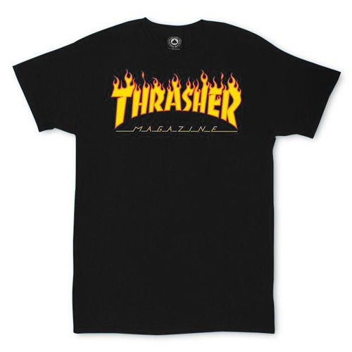 Thrasher Flame Logo T-Shirt - 110102/BK
