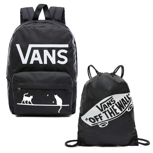 VANS - New Skool Backp Backpack Custom Cats VN0002TLY28 + Bag