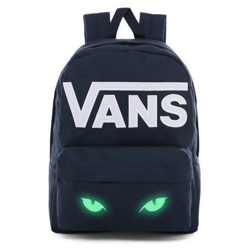 Vans Old Skool III Dress Blues-White Backpack - VN0A3I6R5S2 - Custom Lumi - Cat's Eyes