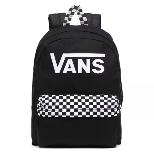 Vans Realm Black Checkerboard Backpack - VN0A4DRMBLK
