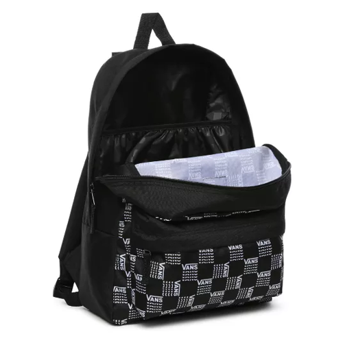 Vans Realm Word Check Backpack - VN0A3UI7ZM0 + Pencil Pouch