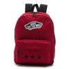 Vans Realm Biking Red Backpack - VN0A3UI61OA - Custom Black Stars