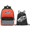 Vans Realm Paprika-Checkerboard Backpack - VN0A3UI6ZKF + Benched Bag