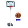 Spartan Portable Basketball Stand - 1158 + Spalding TF-500 + pump