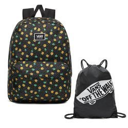 Vans Realm Classic Polka Ditsy Rucksack - VN0A3UI7VCY + Trainingsbeutel
