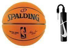 NBA Spalding Game Basketball Replic + Nike Essential Dual Action Ball Pump