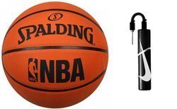 Spalding NBA Logo Outdoor Basketball + pump Nike Essential
