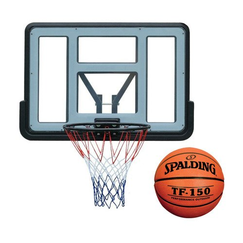 Basketball set Spartan Wall Mounted Backboard + Spalding TF-150 FIBA