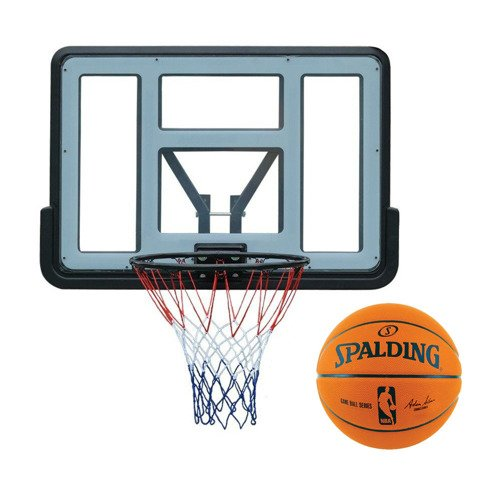 Basketball set Spartan Wall Mounted Backboard + NBA Spalding Official