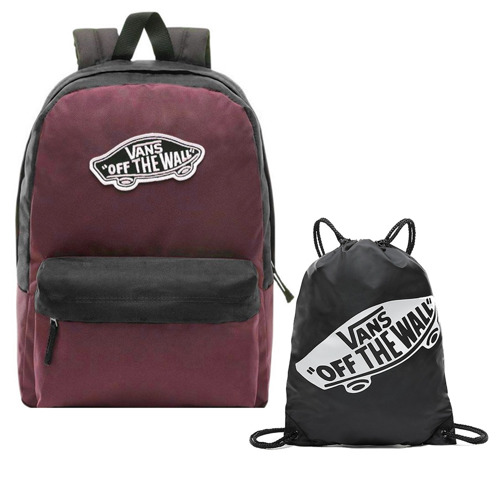 Vans Realm Prune Purple Black Batoh - VN0A3UI6TQR + Bag